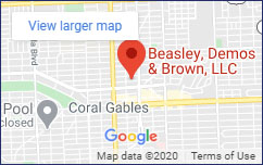 This is an image of a map where the office of Beasley, Demos & Brown LLC is located.